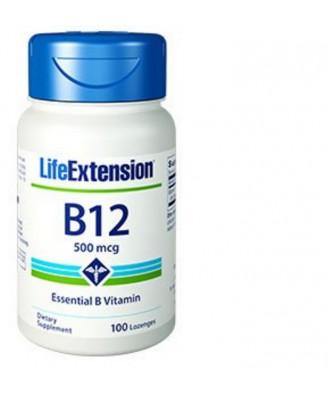 Vitamine B12 - 500 Mcg -100 Pastilles - Life Extension