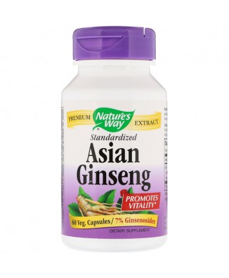 Nature's Way, Korean Ginseng, Standardized, 60 Vcaps