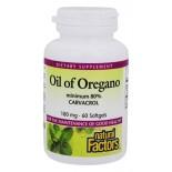 Oil of Oregano Minimum 80% Carvacrol 180 mg (60 softgels) - Natural Factors