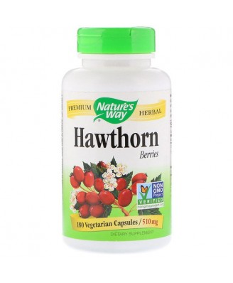 Nature's Way, Hawthorn Berries, 510 mg, 180 Vcaps