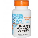 Doctor's Best, Best Vitamin D3, 2000 IU, 180 Softgels