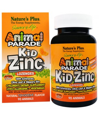 Kid Zinc Lozenges, Natural Tangerine Flavor (90 Animals) - Nature's Plus