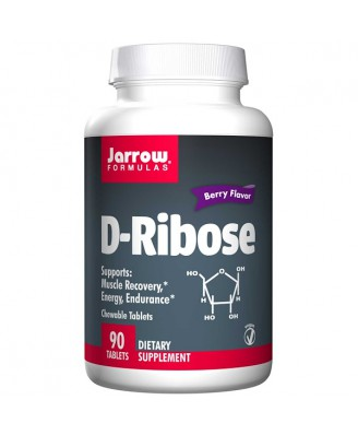D-Ribose Berry Flavor (90 chewable Tablets) - Jarrow Formulas