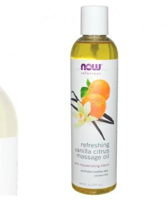 Fraîcheur citron vanille (237 ml) - d'huile de Massage - Now Foods