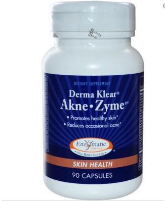 Enzymatic Therapy, Derma Klear Akne Zime, santé de la peau, 90 Capsules