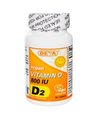 Vegan Vitamine D 800 IE (90 Tabletten) - Deva