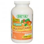 Multivitamine voor Vegetariers en Veganisten (90 Tabletten), zonder IJzer - Deva