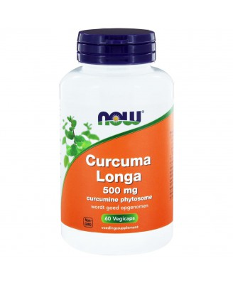 Curcuma Longa 500 mg (Curcumine Phytosome) (60 vegicaps) - NOW Foods