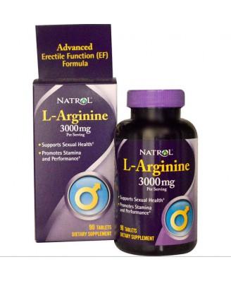 Natrol, L-Arginine 3000 mg, 90 comprimés