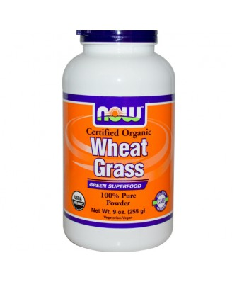 Certified Organic Wheat Grass (255 Gram) - Now Foods