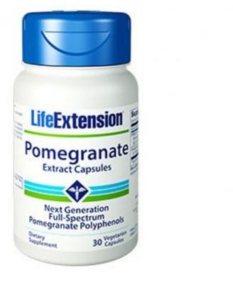 Extrait De Grenade Capsules, 30 Capsules Végétales - Life Extension