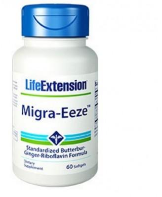 Migra-Eeze standardisé Butterbur-Ginger-riboflavine Formula - 60 gélules - Life Extension