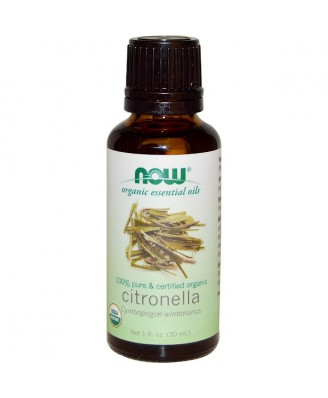 Organic Essential Oils- Citronella Oil (30 ml) - Now Foods