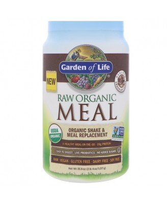 Raw Organic Meal- Shake & Meal Replacement Chocolate Cacao (1017 gram) - Garden of Life