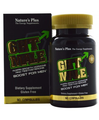 GHT Male, Human Growth Hormone And Testosterone Boost For Men (90 Capsules) - Nature's Plus