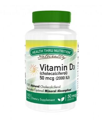Vitamin D3 2.000iu (non-GMO) (100 Softgels) - Health Thru Nutrition