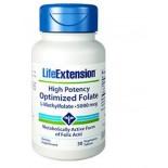 Forte puissance optimisée de Folate (L-Methylfolate) 5000 Mcg - 30 comprimés végétarien - Life Extension