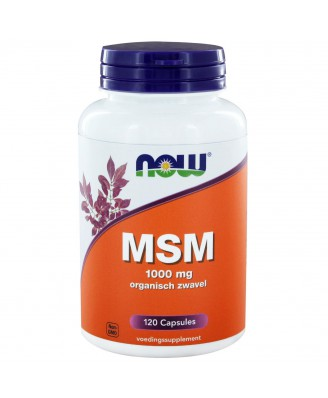 MSM 1000 mg (120 caps) - NOW Foods