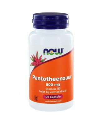 Pantotheenzuur 500 mg (B5) (100 caps) - NOW Foods
