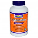 L-Carnosine 500 mg (100 Veg Capsules) - Now Foods