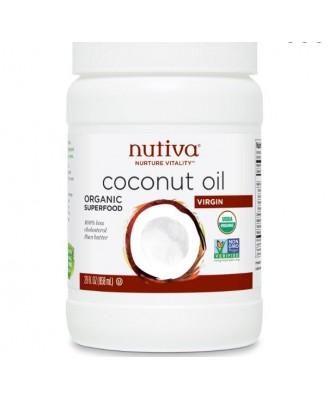Kokosnoot Olie, Biologisch & Extra Vierge (823 gram) - Nutiva