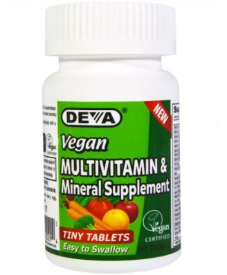 Deva, supplément multivitaminique & minéral, 90 comprimés végétariens minuscules