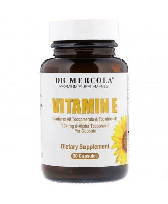 Vitamine E tocoferolen & tocotriënolen (30 Licaps Capsules) - Dr Mercola