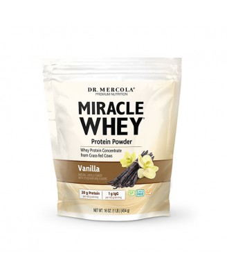 Wonder Whey Eiwitpoeder, Vanillesmaak (454 g) - Dr. Mercola