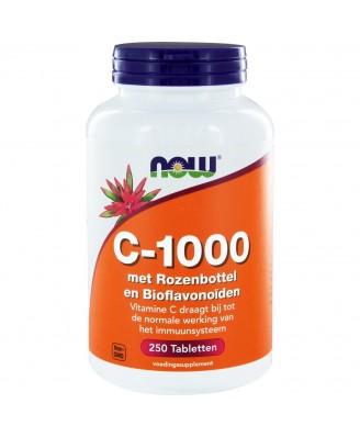 C-1000 met rozenbottel en bioflavonoïden (250 tabletten) - Now Foods