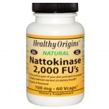 Nattokinase 2000 FU's - 100 mg (60 Vegetarian Capsules) - Healthy Origins