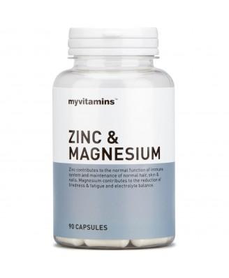 Myvitamins Zinc & Magnesium, 30 Capsules (30 Capsules) - Myvitamins